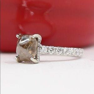 5.14 Carat Rough Diamond Engagement Ring